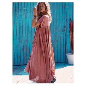 Free People FP Beach mars maxi dress rose Sz Small
